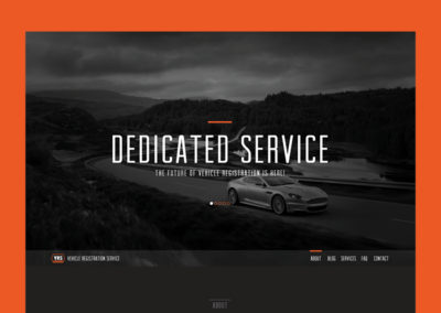 Vehicle Registration Service Homepage