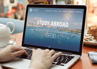 National University International Website
