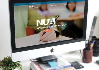 National University Academy Website