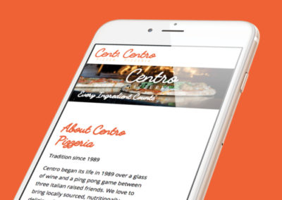 Centro Pizzeria Website