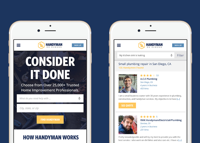 Handyman on Demand Website