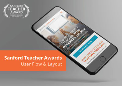 Sanford Teacher Awards User Flow and Layout