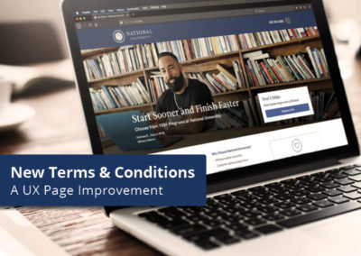 Terms and Conditions Updates — A UX Page Improvement