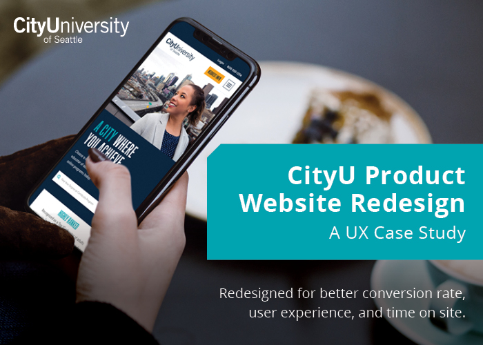 CityU Product Website Redesign — A UX Case Study